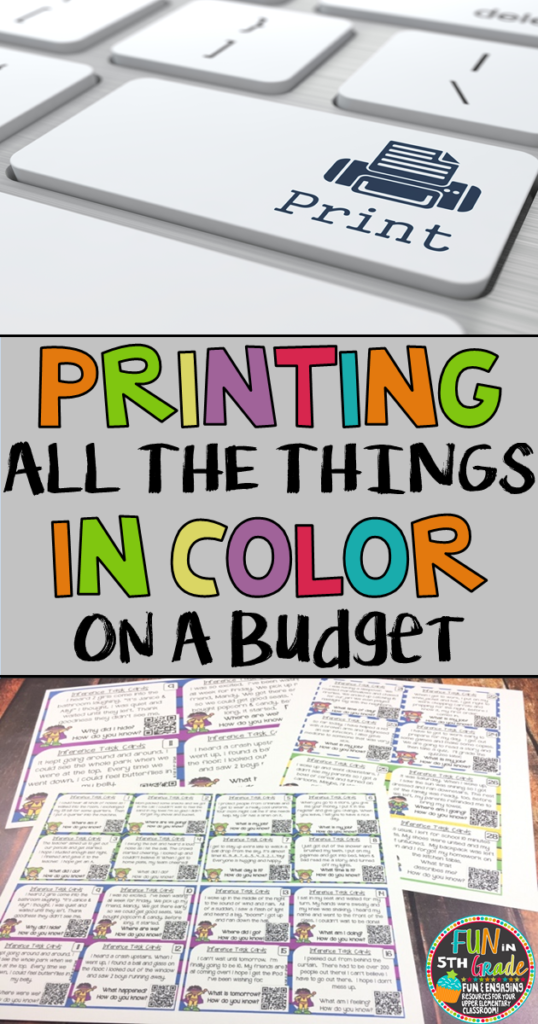 Print all the things you want in color on a budget. Teachers regularly need/want to print all the pretty things but it can get costly as the school year goes on. Read more to find out how to print all the things on the cheap.