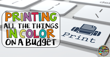 do you see all the colorful things on teachers pay teachers and pinterest and wish you had the budget and the color ink to be able to print them - Colour Print Out