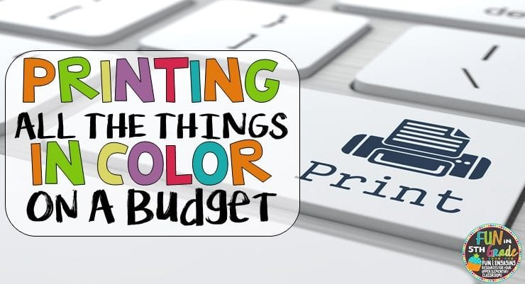 Print ALL THE THINGS in Color on a Budget