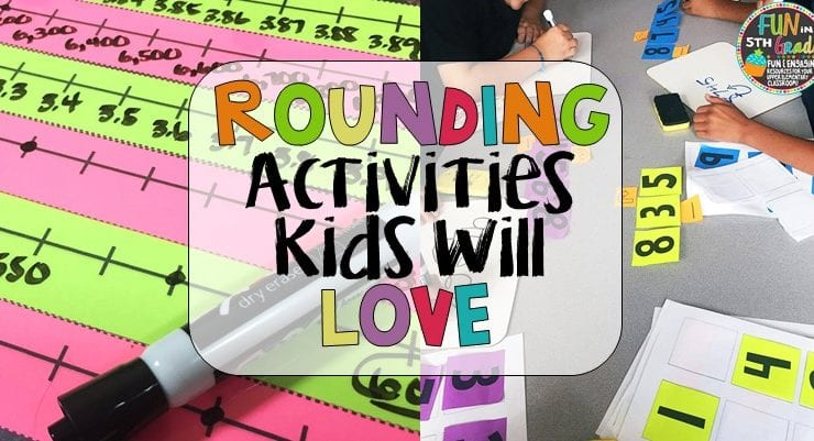 Rounding activities to review and teach students in upper elementary. Freebies included! Games, activities, and anchor charts for rounding fun.