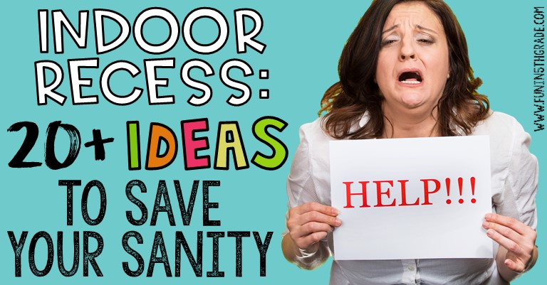 Indoor recess got you down? Spice it up for your students by checking out these tips to make it fun for everyone! Fun games, activities and more to make indoor recess fun!