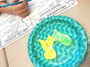Fun science experiments for kids using peeps, jelly beans, and other spring themed items. Perfect for use before or after Easter!