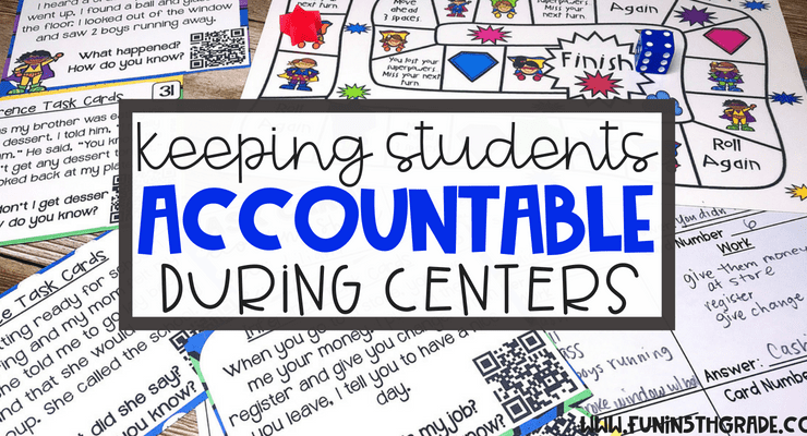Student Accountability During Centers