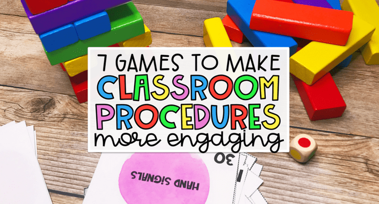 Classroom procedure review can be boring. Make classroom procedures fun to practice by using these games. Perfect for upper elementary. Free game and checklist included for you to use in small groups. #classroomprocedures #classroommanagment #upperelementary