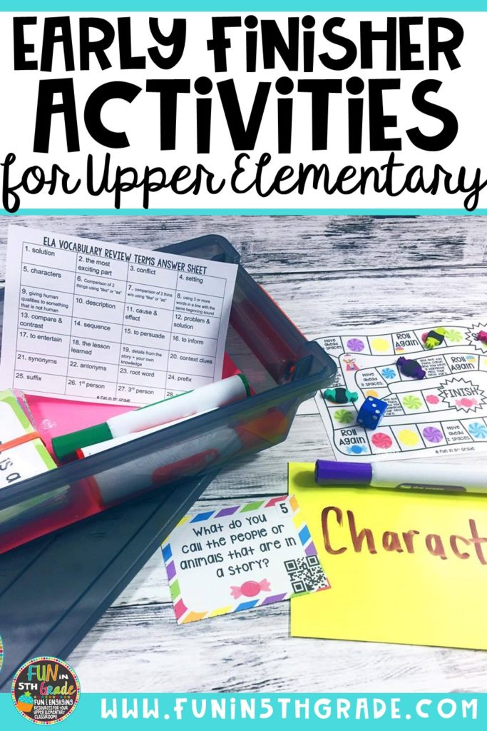 Check out this post for ideas and tips for giving your early finisher students meaningful choices when they finish their work early. Includes free book review activity and editable choice boards.