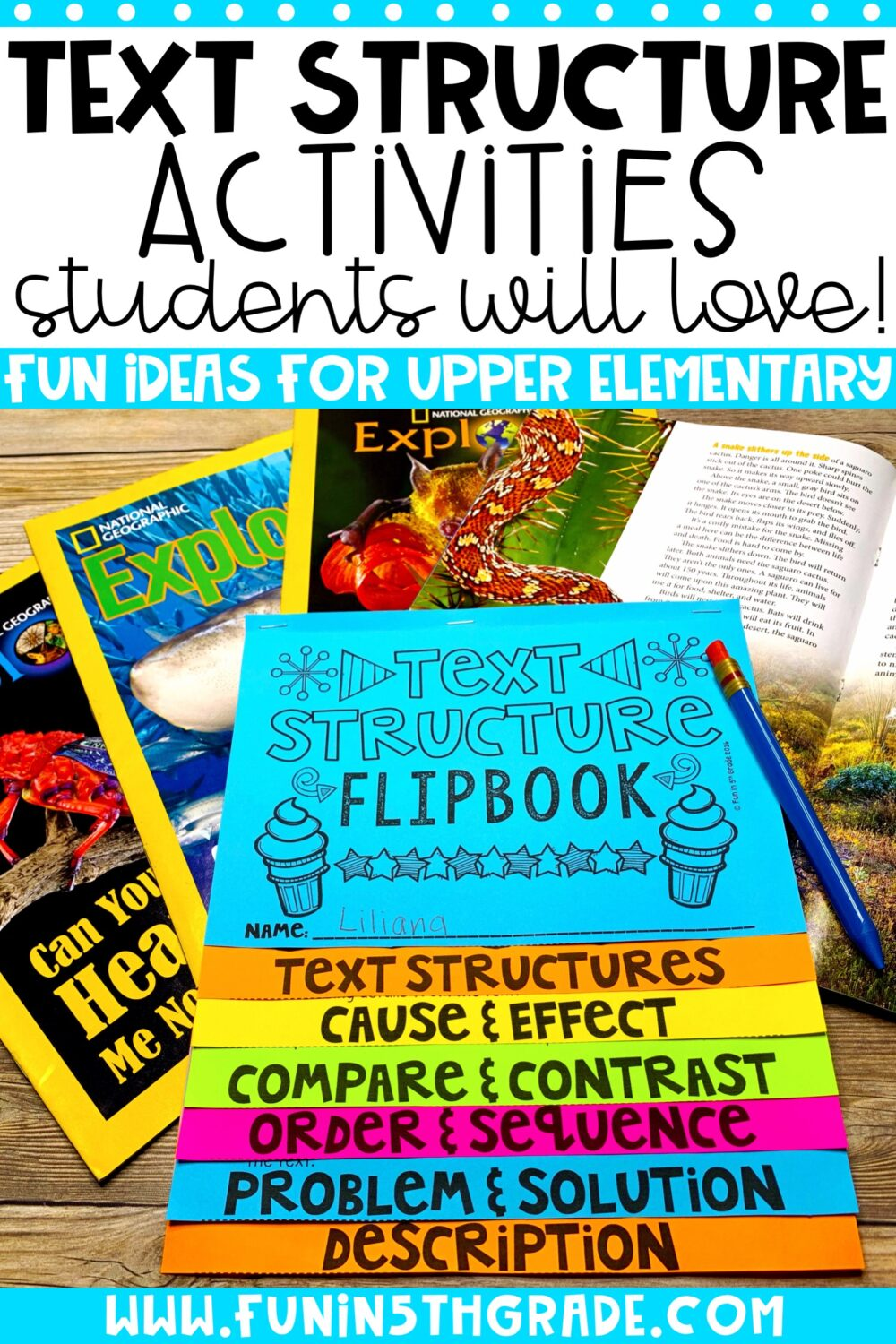 Text structure can be a challenge for students. Use these engaging ideas to help make the topic stick with your students. Ideas for whole group, small group, centers, and more!