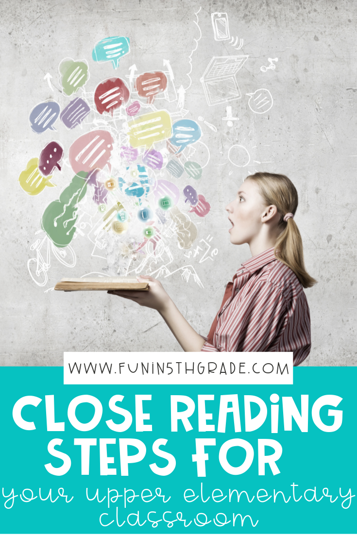 Close Reading Steps for Upper Elementary