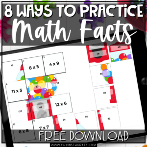 8 Ways to Practice Math Facts