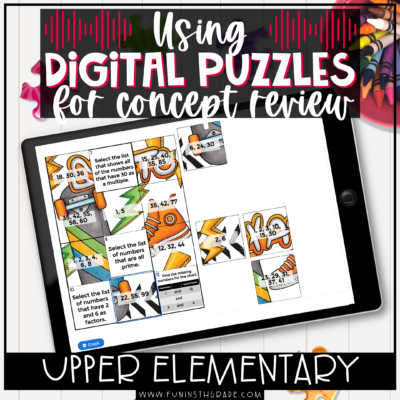 Digital Puzzles for Math Review