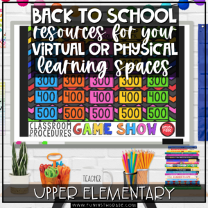 Back to School Resources for Your Virtual or Physical Classrooms