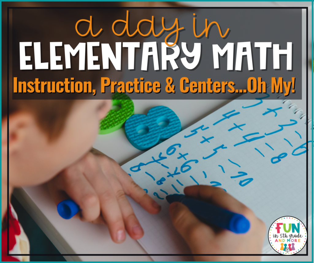 A day in elementary math
