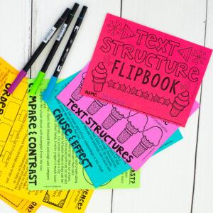 Text Structures Hacks: Flipbook Image