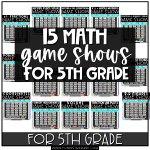 15 math game shows for 5th grade