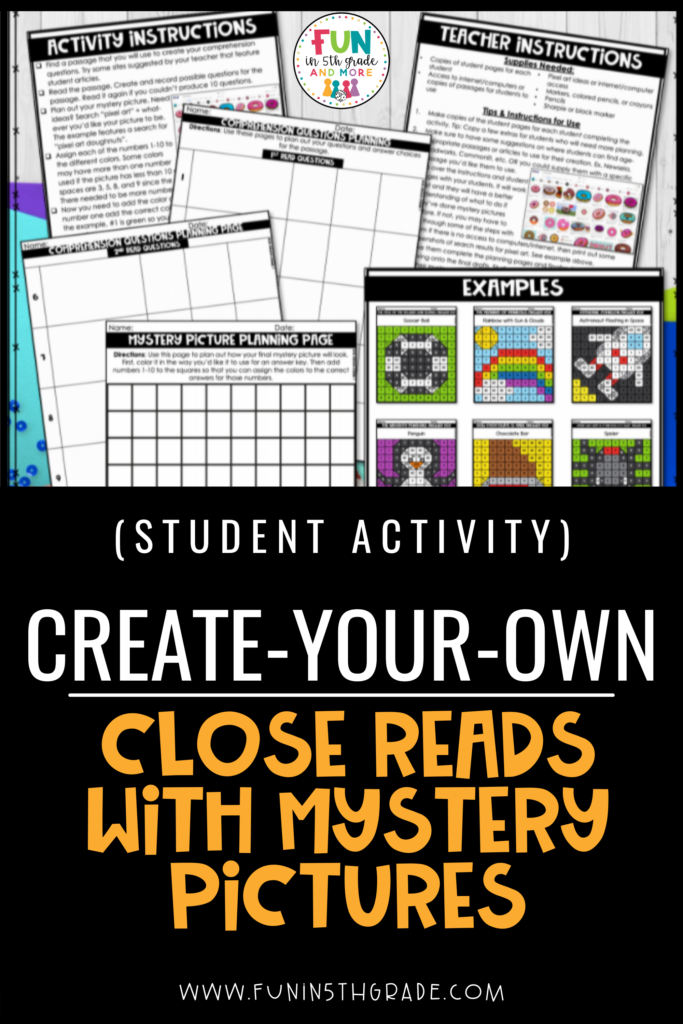 Student Activity: Create-Your-Own Close Read with Mystery Pictures