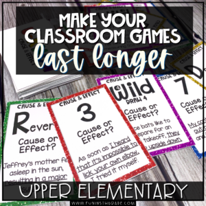 How to make your classroom games last longer