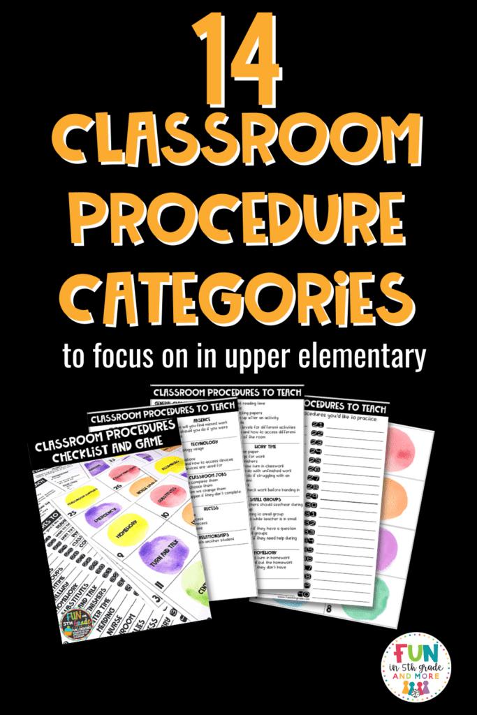 Classroom Procedure Categories