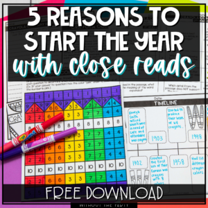 start the year with close reads