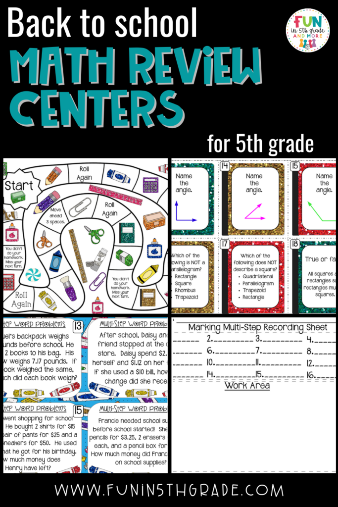 back to school math review centers