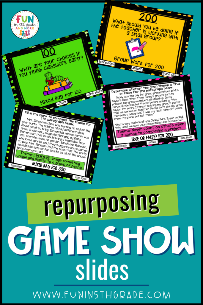 repurposing game show slides