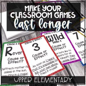 make your classroom games last longer