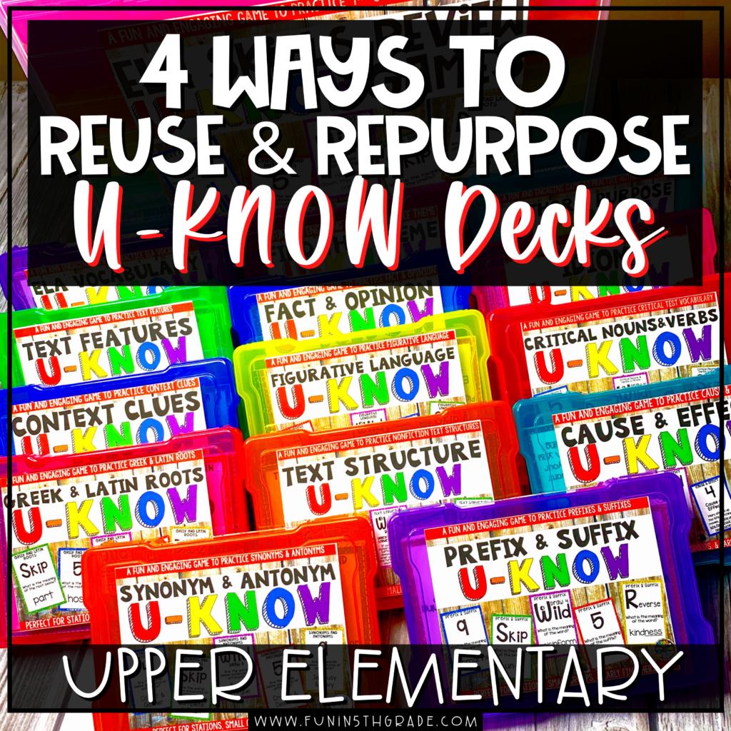 4 Ways to Reuse and Repurpose U-KNOW Cards