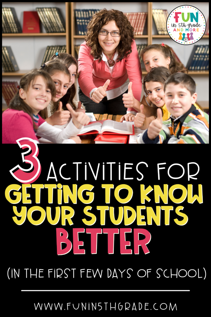 3 activities for getting to know your students in the first few days of school