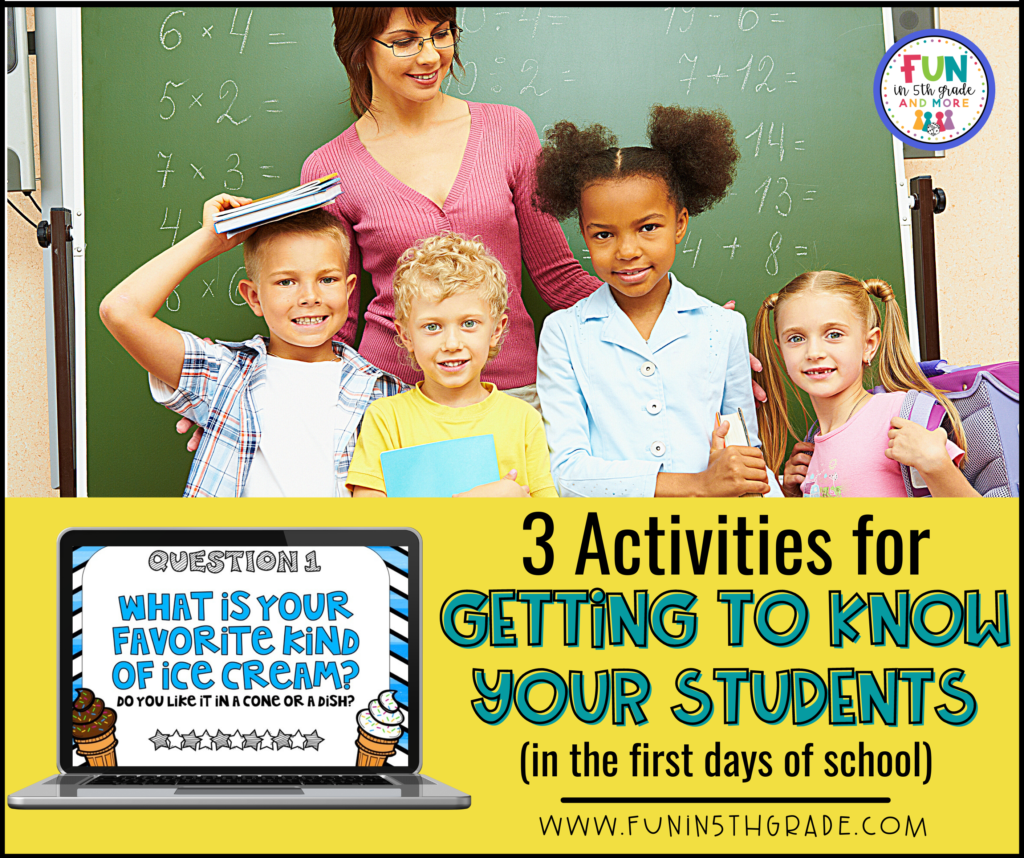 3 activities for getting to know your students in the first days of school
