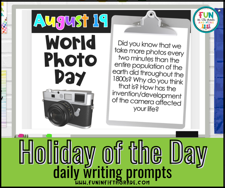 Holiday of the Day Writing Prompts