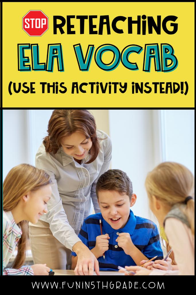 reteaching ELA vocabulary