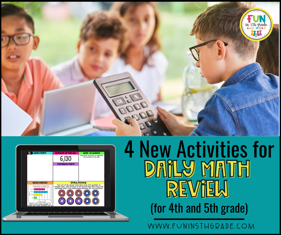 4 New Activities for Daily Math Review