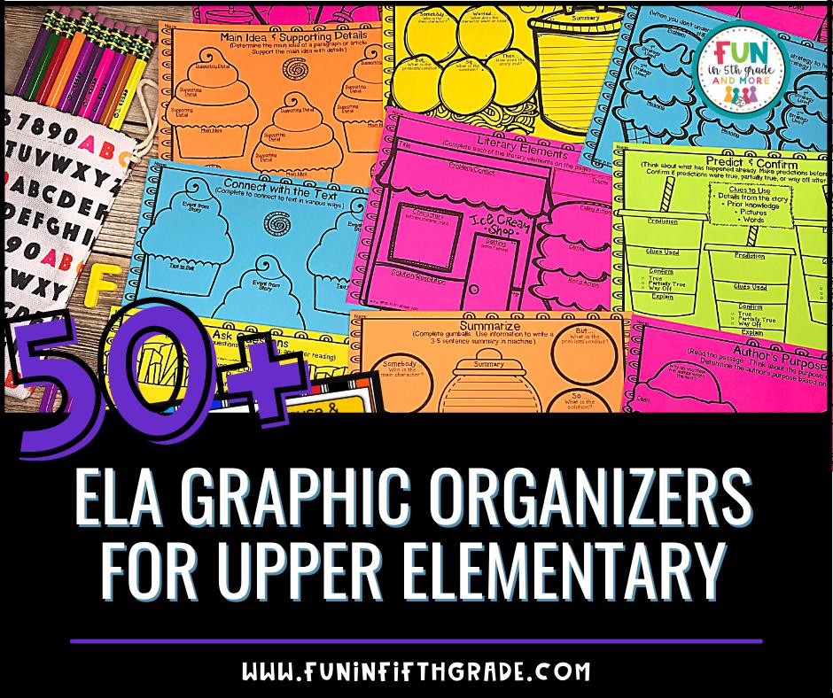 50+ ELA Graphic Organizers